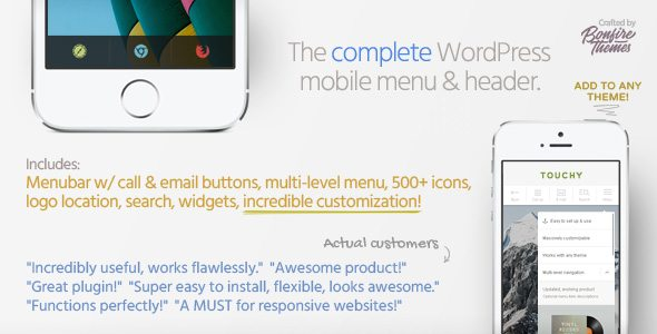 touchy preview 2 4 01 - 4 Most Use Mobile Responsive Plugin for Wordpress Blog