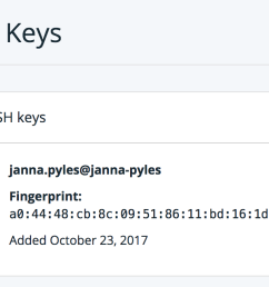 on the left side click ssh keys  [ 1686 x 652 Pixel ]