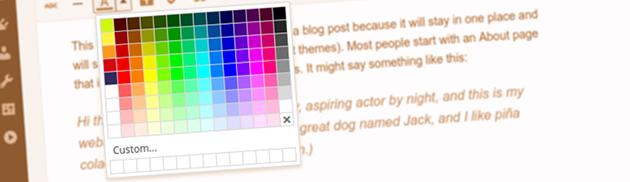 how to change wordpress color scheme