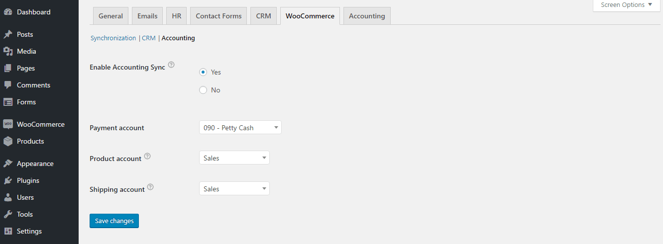 How to use CRM & Accounting WooCommerce Integration with