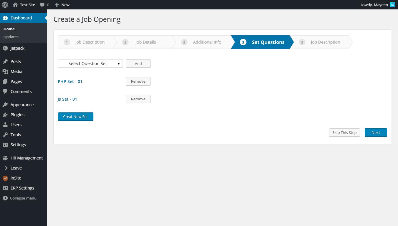 Wordpress Recruitment Plugin
