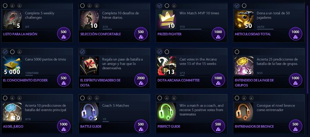 Battle Pass Logros