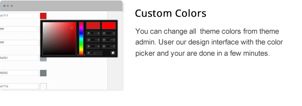 wpresidence custom colors