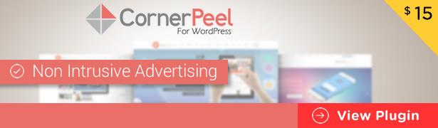 WordPress corner peel plugin