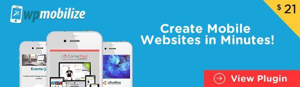 WordPress construtor de sites móveis