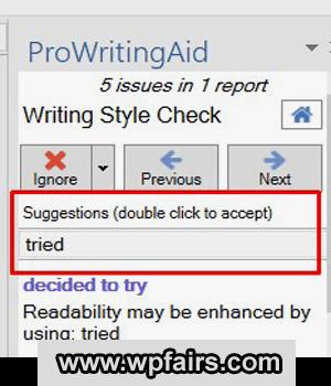 how-to-use-prowritingaid-ms-word-addin
