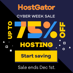 HostGator Cyber Week Sale 2020