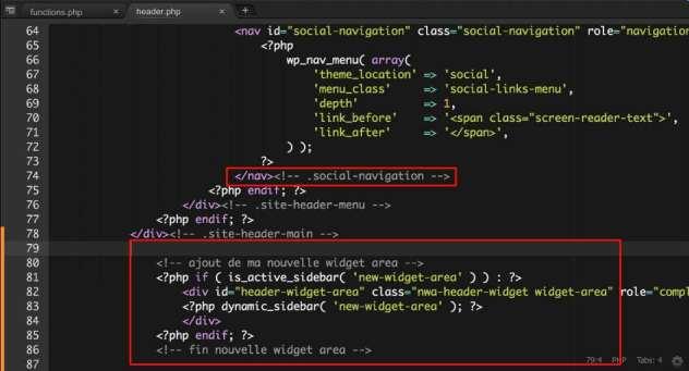 Code PHP à placer dans le Header
