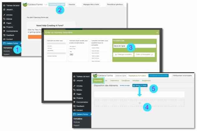 Créer un formulaire de devis en ligne avec Caldera Form