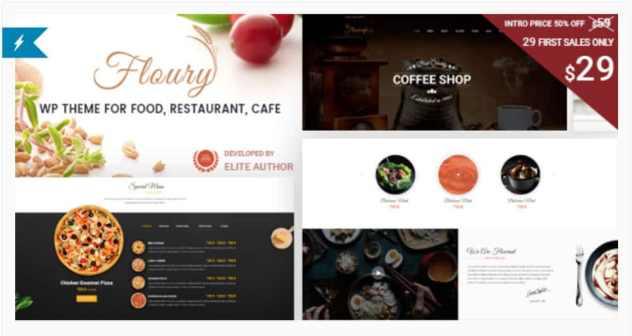 Floury - Theme WordPress pour site web restaurant