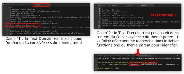 Localiser le Text Domain du thèeme parent