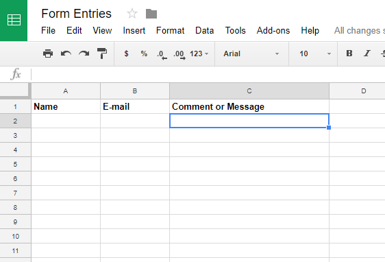 How to Save Contacts From WordPress Forms to Google Sheets