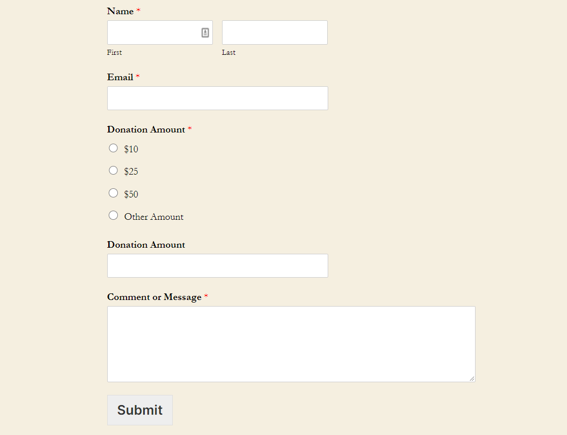 The following information has been provided to you by the washington state housing finance commission as an example for nonprofit organizations. How To Create A Nonprofit Donation Form In WordPress The Easy Way