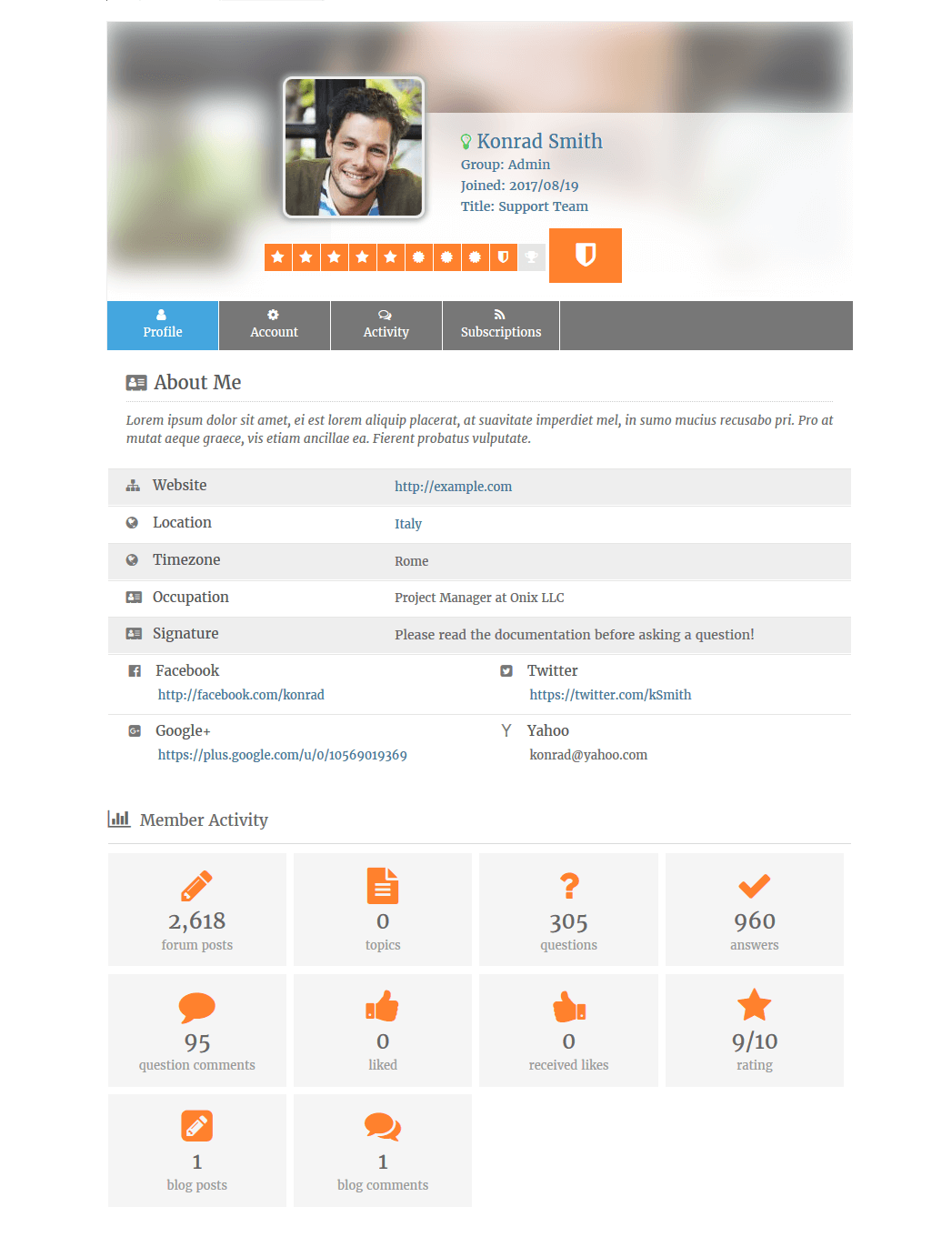 Profile Picture Upload Bootstrap