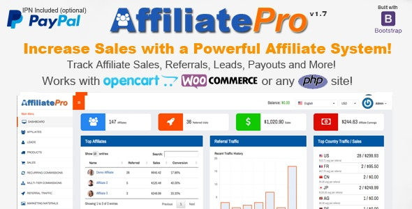 Affiliate Management System Script for WordPress Nulled