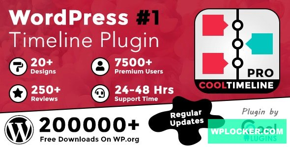 Cool Timeline Pro v3.5.2 – WordPress Timeline Plugin Nulled