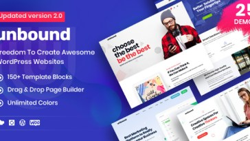 Unbound v2.1.4 – Business Agency Multipurpose Theme