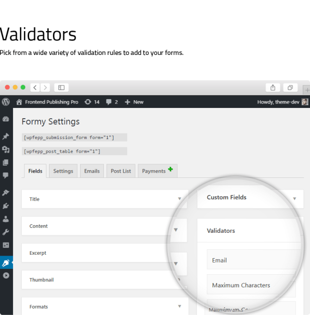 Frontend Publishing Pro - WordPress Post Submission Plugin - 11
