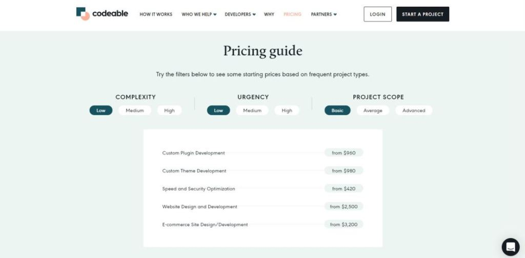Codeable Pricing & Plans