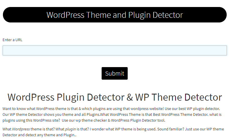 CoderDuck WordPress Theme Detector