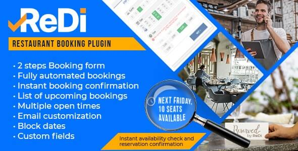 ReDi Restaurant Booking plugin for WordPress