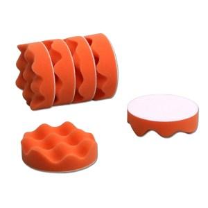 4吋橘波浪海綿(6件)