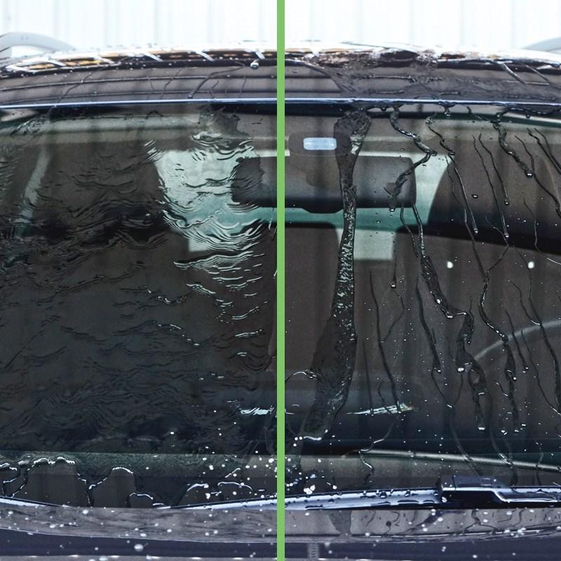4吋薄海綿_玻璃除油膜前後對比