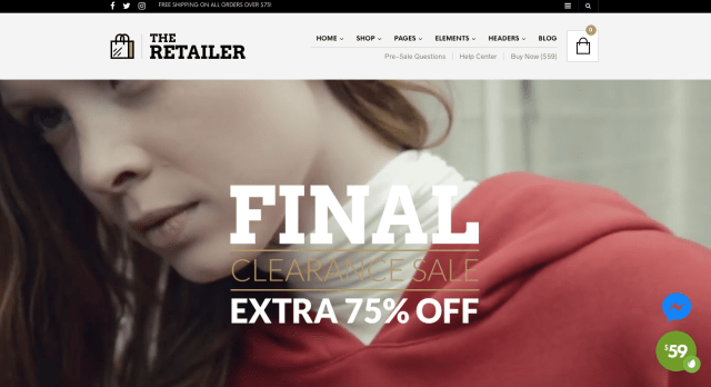 The Retailer WP theme