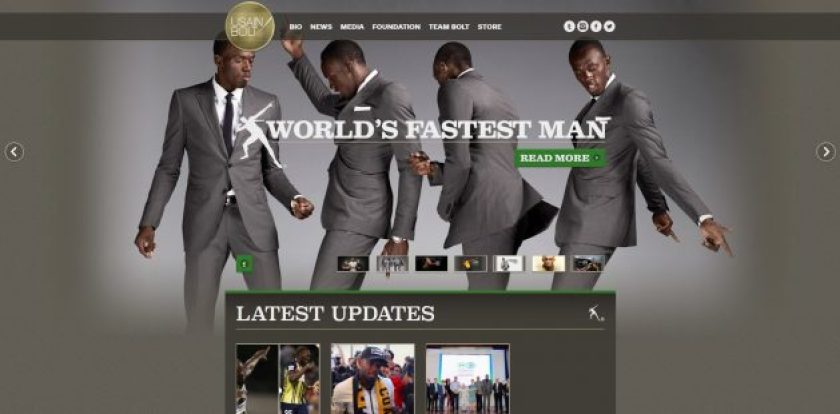 WordPress Business sites- Usain Bolt