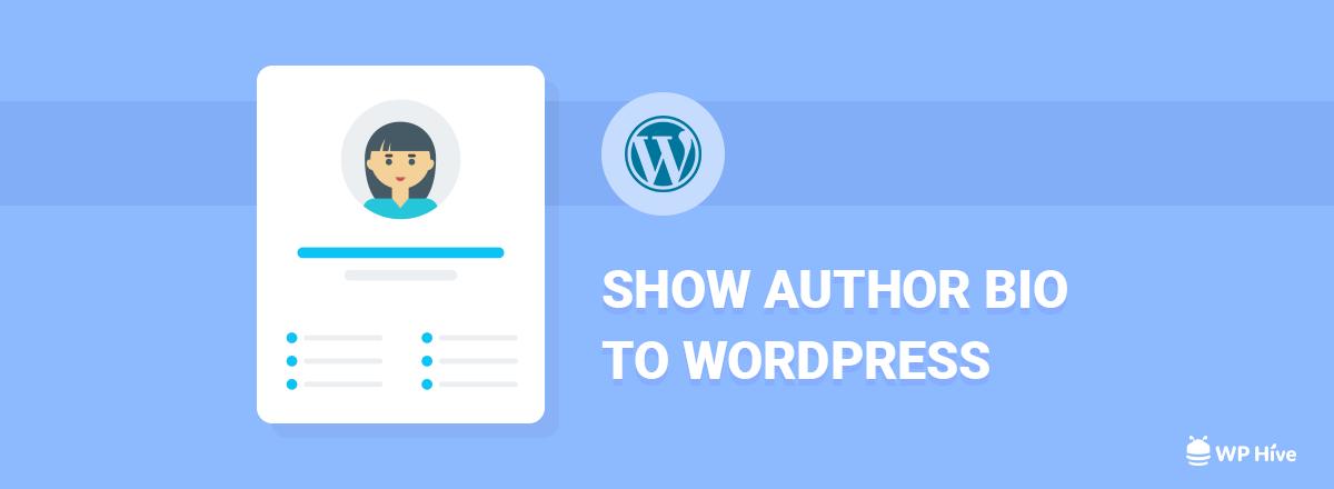 Add Author Bio to WordPress