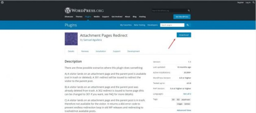 Attachment pages redirect- WordPress image attachment page