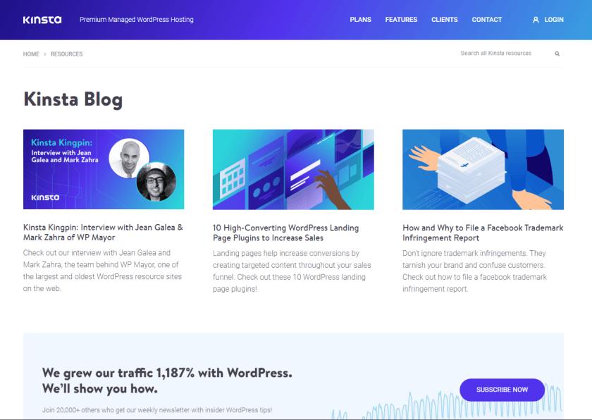 kinsta- best WordPressblogs