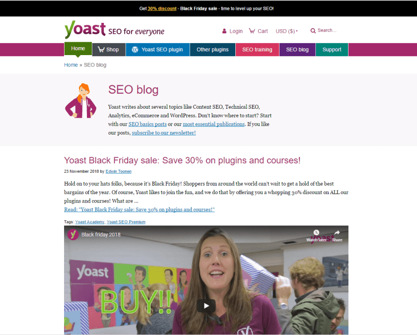 Yoast blog- best WordPress blogs