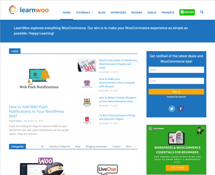 learnwoo- best WordPress blogs