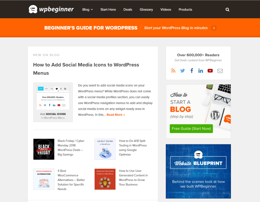 wpbeginner- best WordPress blogs