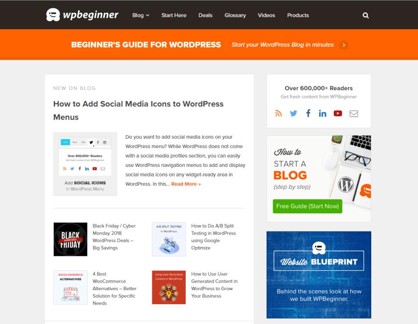 wpbeginner- best WordPressblogs