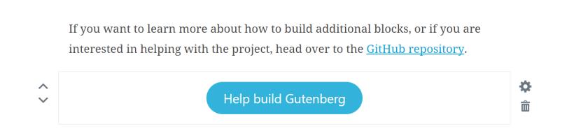 gutenberg-button WordPress 5.0 Review