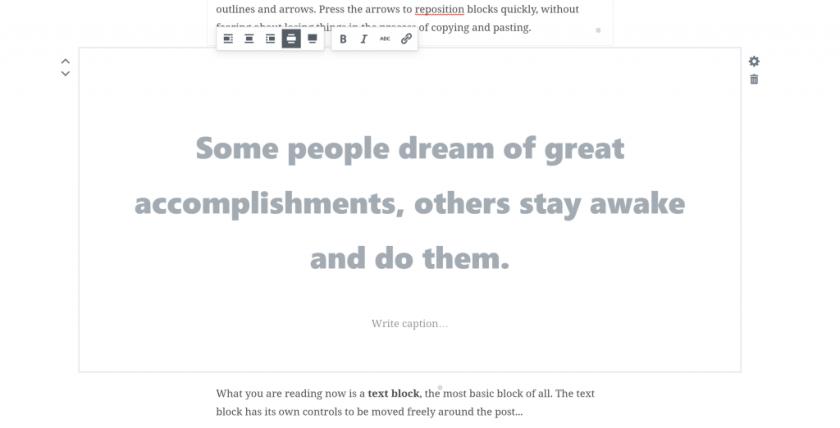 gutenberg-pullquotes WordPress 5.0 Review