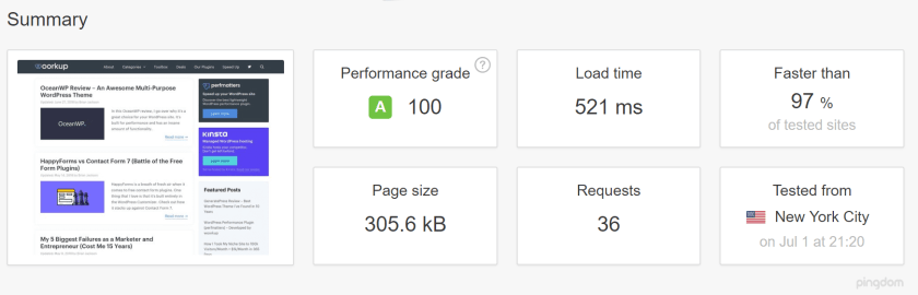 Website with Cache