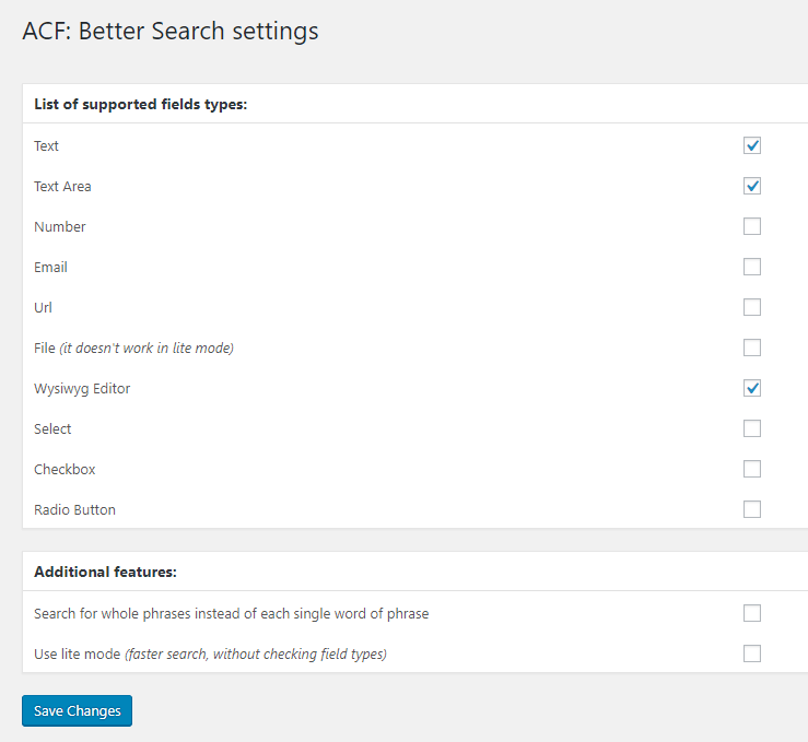 wordpress custom post type search