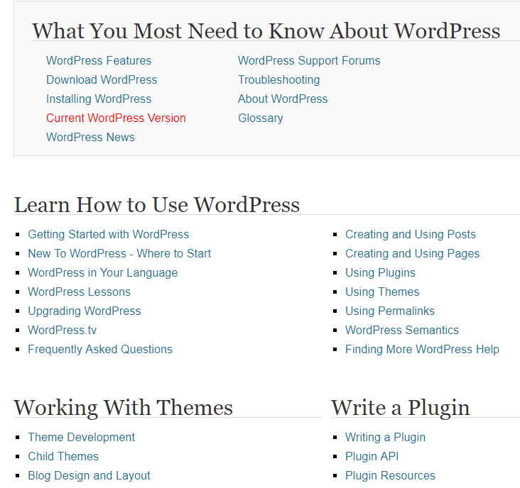 WordPress Codex - WordPress Beginner