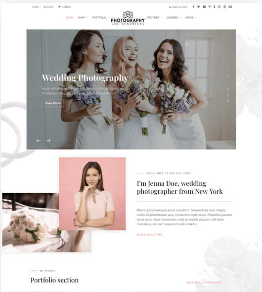Divi Photography WordPress Theme