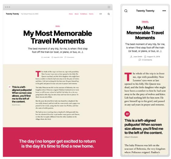 WordPress 5.3 Introduces Twenty Twenty Theme with Improved Typography 4