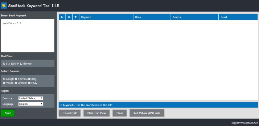 SeoStack Keyword Tool