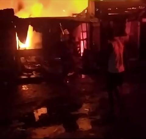 Fire outbreak at iyana ipaja