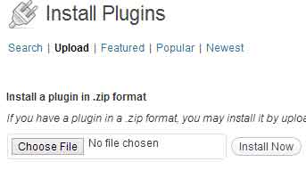 screenshot showing how to upload a wordpress plugin