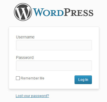 screenshot showing the lost password option of wordpress admin login page