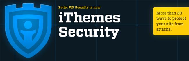 screenshot of iThemes security plugin for wordpress
