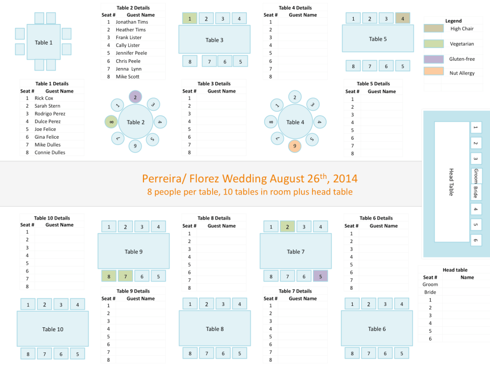 medium resolution of wedding seating chart template