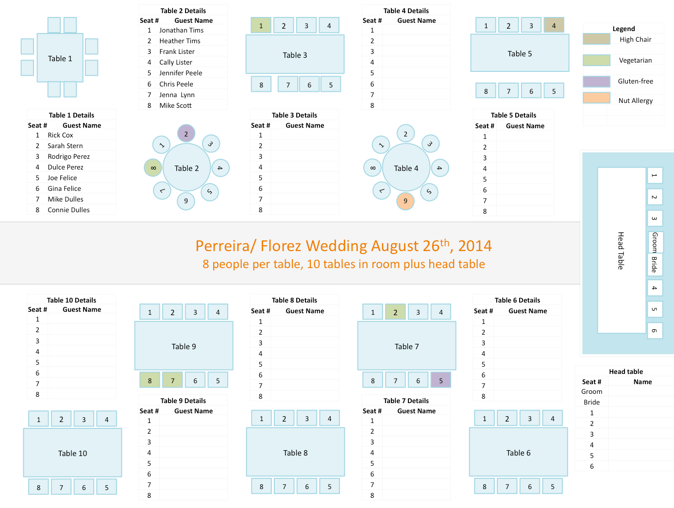 hight resolution of wedding seating chart template